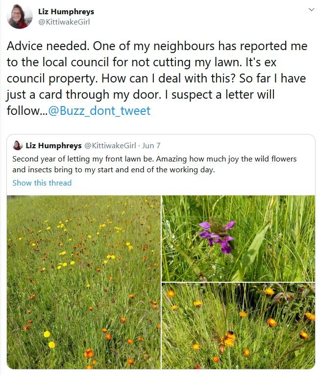 Liz Humphreys tweet